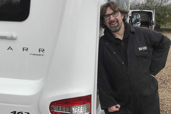 Friendly Staff Installing Motorhome Towbars