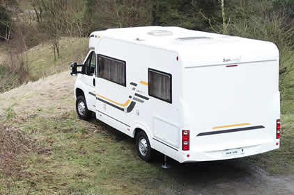 Level Motorhome on Hill