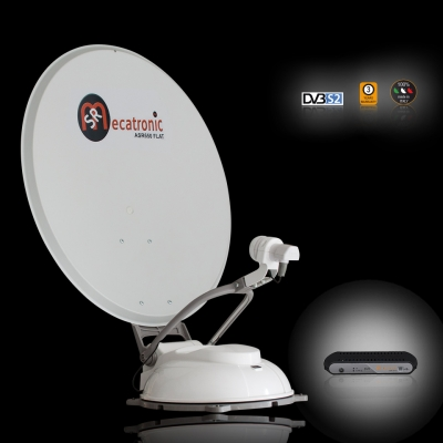 ASR 650 DF Flat for Motorhome Satellite TV System