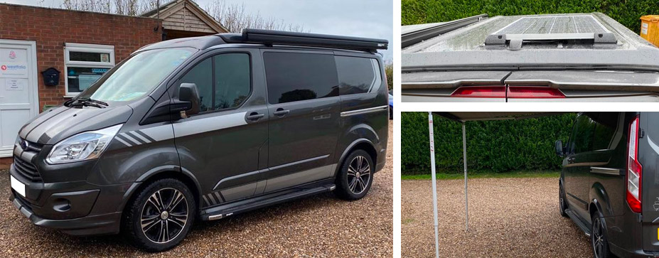 Camper van solar panel and awning installation and supply in Lincoln, Lincolnshire